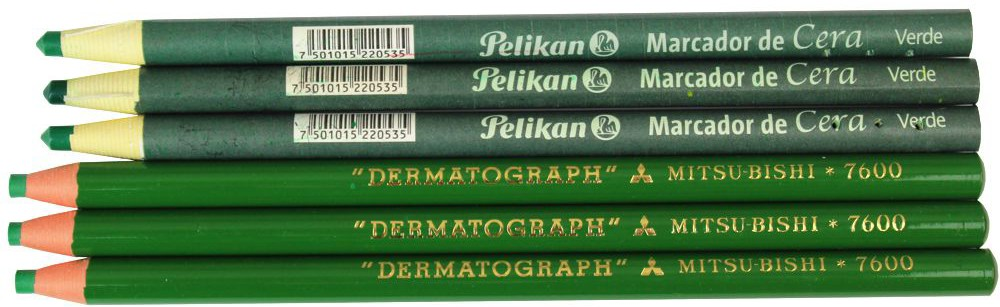 lapis dermatografico mitisubishi verde