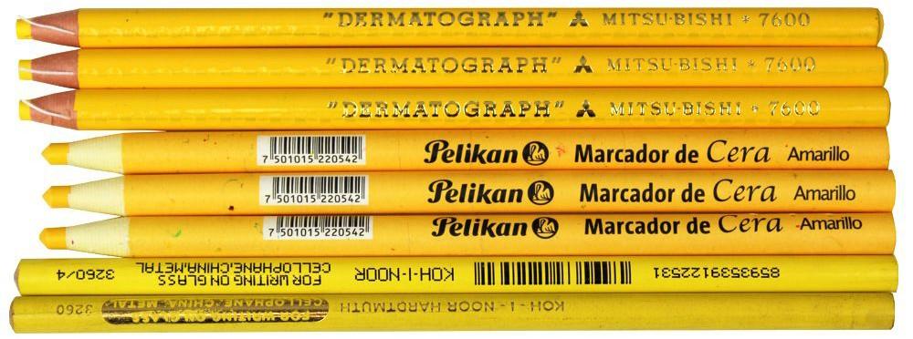 lapis dermatografico pelikan mitsubishi amarelo yellow