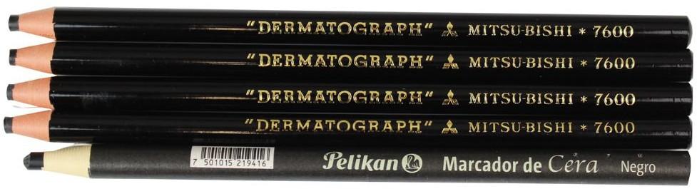 lapis dermatografico preto black mitsubishi